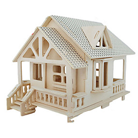 cheap Models & Building Toys-3D Puzzle Jigsaw Puzzle Model Building Kit Famous buildings Furniture House DIY Simulation Wooden Classic Unisex Toy Gift / Wooden Model
