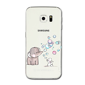 voordelige Galaxy S6 Edge Plus Hoesjes / covers-hoesje Voor Samsung Galaxy S8 Plus / S8 / S7 edge Transparant / Patroon Achterkant Cartoon / Olifant Zacht TPU