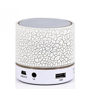 cheap Speakers-Mini Colorful Bluetooth Speakers LED Lights Column Crack Pattern Portable Wireless Loudspeakers Smart Stereo Bluetooth Receiver