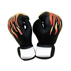 baratos Exercício e Fitness-Luvas para Saco de Box Luvas para Treino de Box Para Taekwondo Boxe Mittens Segurança Unisexo - Preto Vermelho