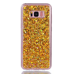 voordelige Galaxy S7 Edge Hoesjes / covers-hoesje Voor Samsung Galaxy S8 Plus / S8 / S7 edge Strass / IMD Achterkant Glitterglans Hard Acryl