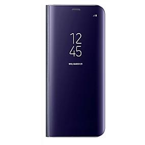 olcso Galaxy A7(2017) tokok-Case Kompatibilitás Samsung Galaxy A3 (2017) / A5 (2017) / A7 (2017) Állvánnyal / Tükör / Flip Héjtok Egyszínű Kemény PU bőr