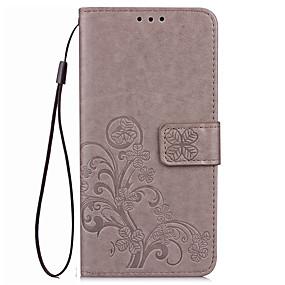 Недорогие Чехлы и кейсы для Huawei Honor-Кейс для Назначение Huawei Honor 7 / Huawei Honor V8 / Huawei Honor 8 / Huawei Honor 7 / Honor 6X Кошелек / Бумажник для карт / со стендом Чехол Однотонный Твердый Кожа PU