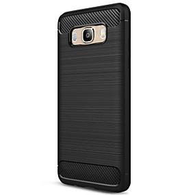 저렴한 Galaxy J5(2016) 케이스 / 커버-ASLING 케이스 제품 Samsung Galaxy J5 (2016) 반투명 뒷면 커버 솔리드 소프트 탄소 섬유 용 J5 (2016)