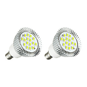 ieftine Spoturi LED-2pcs 3 W Spoturi LED 260-300 lm E14 16 LED-uri de margele SMD 5630 Alb Cald Alb 220-240 V / 2 bc