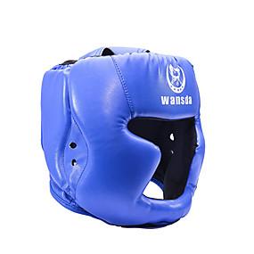 baratos Exercício e Fitness-Capacete de Boxe Capacete Esportes PU Leather Taekwondo Boxe Exercício e Atividade Física Resistente ao Choque Respirável Ajustável Protecção Para Homens