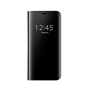 voordelige Galaxy S7 Edge Hoesjes / covers-hoesje Voor Samsung Galaxy S8 Plus / S8 / S7 edge Spiegel / Auto Slapen / Ontwaken Volledig hoesje Effen Hard Muovi