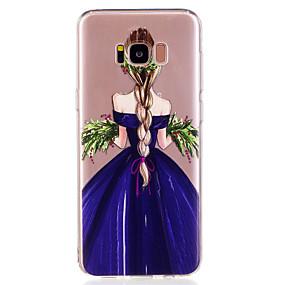 voordelige Galaxy S7 Edge Hoesjes / covers-hoesje Voor Samsung Galaxy S8 Plus / S8 / S7 edge Patroon Achterkant Sexy dame Zacht TPU