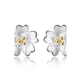 olcso Virágos ékszerek-Női Beszúrós fülbevalók Virág Virág hölgyek Fülbevaló Ékszerek Ezüst Kompatibilitás fokozatokra osztás Üzleti Napi Estély