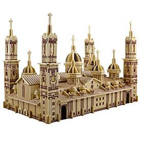 ราคาถูก โมเดลและตึกของเล่น-3D-puslespill Puslespill Model Building Kits โบสถ์ โบสถ์ใหญ่ Plaza del Pilar DIY การจำลอง ทำด้วยไม้ คลาสสิก สำหรับเด็ก ผู้ใหญ่ ทุกเพศ เด็กผู้ชาย เด็กผู้หญิง Toy ของขวัญ / แบบไม้