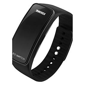 Недорогие Фирменные часы-SKMEI Муж. Спортивные часы Модные часы электронные часы Цифровой силиконовый Черный / Синий / Красный Творчество LED Походные часы Цифровой Конфеты На каждый день - Красный Синий Черный / Серебристый
