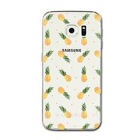 voordelige Galaxy S6 Edge Plus Hoesjes / covers-hoesje Voor Samsung Galaxy S8 Plus / S8 / S7 edge Transparant / Patroon Achterkant Fruit Zacht TPU