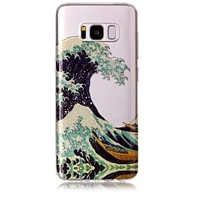 voordelige Galaxy S7 Edge Hoesjes / covers-hoesje Voor Samsung Galaxy S8 Plus / S8 / S7 edge IMD / Patroon Achterkant Lijnen / golven / Glitterglans Zacht TPU