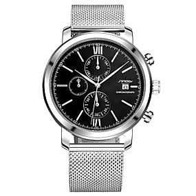 Недорогие Фирменные часы-SINOBI Муж. Спортивные часы Наручные часы Японский Кварцевый Металл Серебристый металл 30 m Защита от влаги Календарь Ударопрочный Аналоговый Кулоны Роскошь Блестящие Классика Мода - Белый Черный