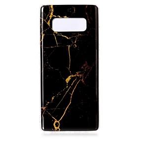 Недорогие Чехлы и кейсы для Galaxy Note 8-Кейс для Назначение SSamsung Galaxy Note 8 IMD / С узором Кейс на заднюю панель Мрамор Мягкий ТПУ