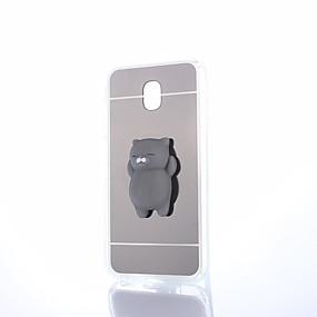 olcso Galaxy J7 tokok-Case Kompatibilitás Samsung Galaxy J7 Prime / J7 (2017) / J7 (2016) Tükör / DIY / pépes Fekete tok Egyszínű Kemény PC
