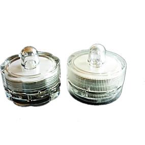 halpa Lemmikkieläinten Tarvikkeita-3kpl vedenpitävä pieni kiertokytkin johti upotettava kynttilä elektroninen vilkkuva valo hääjuhlien sisustustarvikkeet