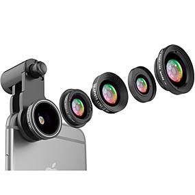 olcso Mobiltelefon kamera-Mobiltelefon Lens Lencse szűrővel / Halszem-lencse / Hosszú gyújtótávolságú lencse Alumínium ötvözet 10X és felett 185