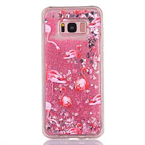 voordelige Galaxy S7 Edge Hoesjes / covers-hoesje Voor Samsung Galaxy S8 Plus / S8 / S7 edge Stromende vloeistof / Transparant / Patroon Achterkant Flamingo / Glitterglans Zacht TPU