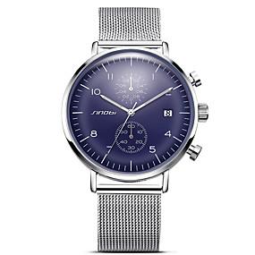 Недорогие Фирменные часы-SINOBI Муж. Спортивные часы Наручные часы Кварцевый Крупногабаритные Металл Белый 30 m Защита от влаги Календарь Творчество Аналоговый Кулоны Блестящие Классика Винтаж На каждый день - / Хронометр