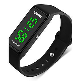 Недорогие Фирменные часы-SKMEI Муж. Для пары Спортивные часы Наручные часы Цифровой Стеганная ПУ кожа Черный 50 m Защита от влаги Календарь Хронометр Цифровой Красный Зеленый Синий / Фосфоресцирующий