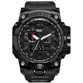 זול שעוני מותגים-SMAEL בגדי ריקוד גברים שעוני ספורט שעונים צבאיים שעון דיגיטלי Japanese דיגיטלי דמוי עור מרופד סיליקוןריצה שחור / אדום / תפוז 50 m עמיד במים לוח שנה כרונוגרף אנלוגי-דיגיטלי יום יומי אופנתי - / שנתיים