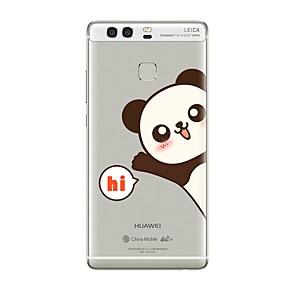 Недорогие Чехлы и кейсы для Huawei Mate-Кейс для Назначение Huawei P9 / Huawei P9 Lite / Huawei P8 P10 Plus / P10 Lite / P10 Прозрачный / С узором Кейс на заднюю панель Слова / выражения / Мультипликация Мягкий ТПУ / Huawei P9 Plus