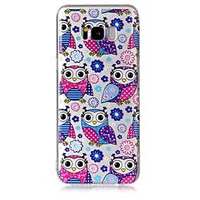 voordelige Galaxy S7 Hoesjes / covers-hoesje Voor Samsung Galaxy S8 Plus / S8 / S7 edge Transparant / Patroon Achterkant Uil Zacht TPU