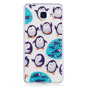 voordelige Galaxy A5(2016) Hoesjes / covers-hoesje Voor Samsung Galaxy A3 (2017) / A5 (2017) / A5(2016) IMD / Transparant / Patroon Achterkant dier Zacht TPU