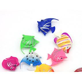 preiswerte Haustierzubehör-Aquarium Aquarium Dekoration Fische Künstliche Fische Zufällige Farben Dekoration Kunststoff 3.5-4 cm