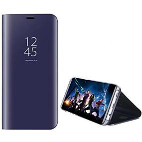 voordelige Galaxy S7 Hoesjes / covers-hoesje Voor Samsung Galaxy S8 Plus / S8 / S7 edge met standaard / Beplating / Spiegel Volledig hoesje Effen Hard PC