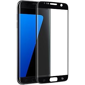 Недорогие Чехлы и кейсы для Galaxy S-Samsung GalaxyScreen ProtectorS7 edge 2.5D закругленные углы Защитная пленка на всё устройство 1 ед. Закаленное стекло