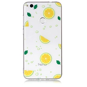 voordelige Huawei Honor hoesjes / covers-hoesje Voor Huawei / Huawei P8 Lite P10 Lite / P10 / P8 Lite (2017) Transparant / Patroon Achterkant Fruit Zacht TPU