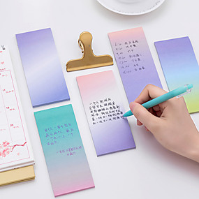 cheap Stationery-1 PC Gradient Color Self-Stick Notes 40 Page(Random Color)