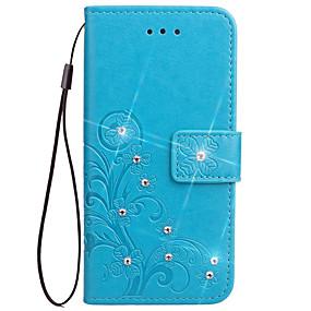 Недорогие Чехлы и кейсы для Galaxy Note 2-Кейс для Назначение SSamsung Galaxy Note 5 / Note 4 / Note 3 Кошелек / Бумажник для карт / со стендом Чехол Цветы Твердый Кожа PU