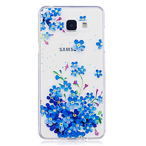 voordelige Galaxy A5(2016) Hoesjes / covers-hoesje Voor Samsung Galaxy A3 (2017) / A5 (2017) / A5(2016) IMD / Transparant / Patroon Achterkant Bloem Zacht TPU