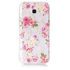 voordelige Galaxy A5(2016) Hoesjes / covers-hoesje Voor Samsung Galaxy A3 (2017) / A5 (2017) / A5(2016) Transparant / Patroon Achterkant Bloem Zacht TPU