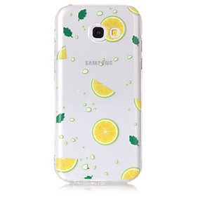 voordelige Galaxy A5(2016) Hoesjes / covers-hoesje Voor Samsung Galaxy A3 (2017) / A5 (2017) / A5(2016) Transparant / Patroon Achterkant Fruit Zacht TPU