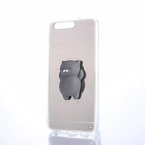 Недорогие Чехлы и кейсы для Huawei Honor-Кейс для Назначение Huawei Honor 4X / Huawei Honor 7 / Huawei P9 P10 Plus / P10 Lite / P10 Зеркальная поверхность / Своими руками / болотистый Кейс на заднюю панель Однотонный Твердый ПК
