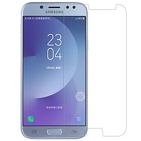 Недорогие Защитные пленки для Samsung-протектор экрана nillkin для галактики samsung j7 (2017) закаленное стекло 1 шт. защитная пленка переднего экрана высокой четкости (hd) / 9h твердость / 2.5d изогнутый край