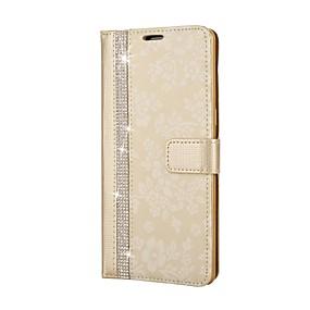 Недорогие Чехлы и кейсы для Galaxy Note 8-Кейс для Назначение SSamsung Galaxy Note 8 Кошелек / Стразы / со стендом Чехол Цветы Твердый Кожа PU