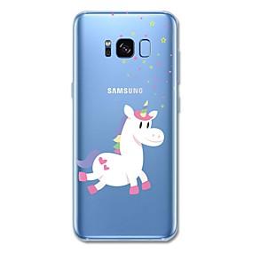 voordelige Galaxy S6 Edge Plus Hoesjes / covers-hoesje Voor Apple S8 Plus / S8 Transparant Achterkant Eenhoorn / Cartoon / dier Zacht TPU voor S8 Plus / S8 / S7 edge