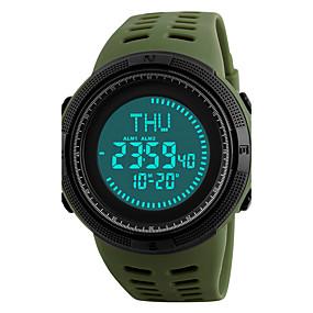 Недорогие Фирменные часы-SKMEI Муж. Спортивные часы Наручные часы электронные часы Японский Цифровой Стеганная ПУ кожа Черный / Зеленый 50 m Защита от влаги Будильник Календарь Цифровой Черный Зеленый / Два года / Секундомер