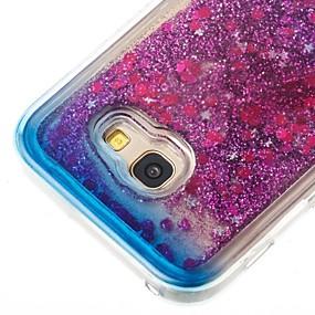 voordelige Galaxy A3(2016) Hoesjes / covers-hoesje Voor Samsung Galaxy A3 (2017) / A5 (2017) / A5(2016) Stromende vloeistof Achterkant Glitterglans Zacht TPU