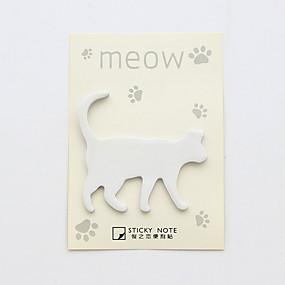 olcso Irodaszerek-1 db macska design öntapadó jegyzettömb (véletlenszerű szín)