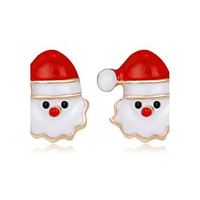 olcso Karácsonyi ékszerek-Női Beszúrós fülbevalók hölgyek Divat Strassz Fülbevaló Ékszerek Szivárvány Kompatibilitás Karácsony Új Év