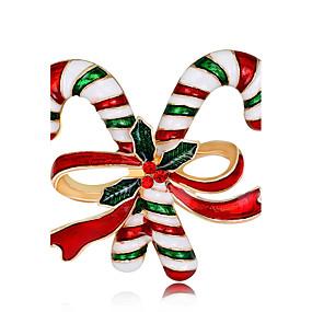 olcso Karácsonyi ékszerek-Női Melltűk hölgyek Divat Rózsa arany bevonattal Bross Ékszerek Szivárvány Kompatibilitás Karácsony Új Év