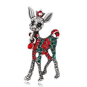 olcso Karácsonyi ékszerek-Férfi Női Melltűk Divat Ezüstözött Arannyal bevont Bross Ékszerek Arany Ezüst Kompatibilitás Karácsony Parti