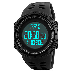 Недорогие Фирменные часы-SKMEI Муж. Спортивные часы Наручные часы электронные часы Японский Цифровой Стеганная ПУ кожа Черный / Зеленый 50 m Защита от влаги Будильник Календарь Цифровой Роскошь На каждый день - Черный Зеленый
