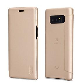 Недорогие Чехлы и кейсы для Galaxy Note 8-Кейс для Назначение SSamsung Galaxy Note 8 Флип / Матовое Чехол Однотонный Мягкий Кожа PU для Note 8